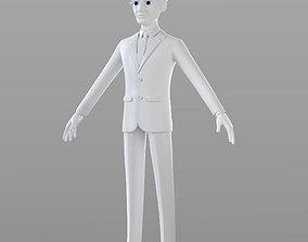 work Cartoon Businessman 3D model