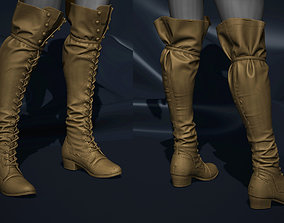 Super detailed vintage boots 3D printable model