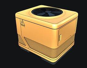 Sci-fi Air Condition 3D asset