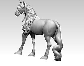 Horse Mustang statue bust 3D print model