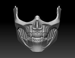 3D print model Erron Black mask helmet for cosplay 4