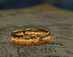 3D asset low-poly The One Ring