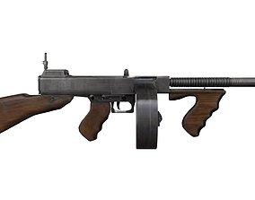 TOMMY GUN 3D rigged