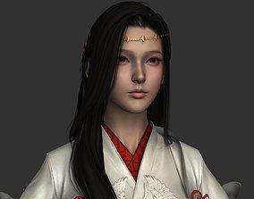 Chinese beauty Woman Female pretty girl lady 3D asset 2
