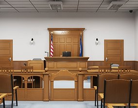 Courtroom Interior 3D