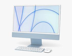 3D model Apple iMac 24-inch 2021 Blue