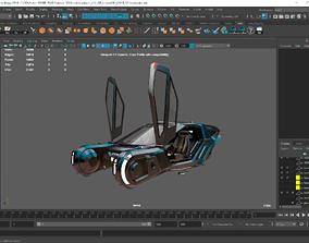 low-poly Bladerunner 2049 spinner 3D 2K clean uvmaps