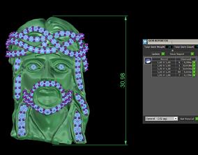Jesus head pendant 3D print model 3