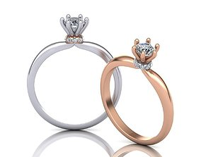 Paradise engagement ring 6prong own design 3D print model