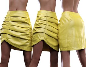Asymmetric Leather Skirt 3D model