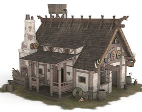 3D model Viking House 01