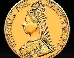 3D print model Coin Great Britain 5 Pounds 1887 Victoria