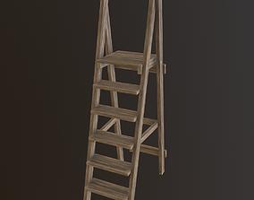 3D asset Wooden Ladder