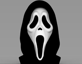 Ghostface from Scream bust ready for full color 3D 1