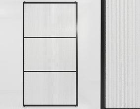 Glass partition door 54 3D model