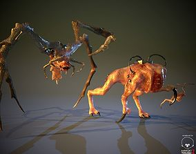 3D model Game Alien Pack 3 Characters LowPoly