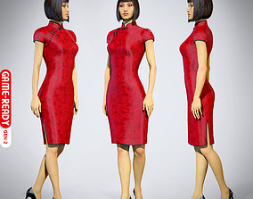 3D asset Female Character - Iva - Chinese Dress