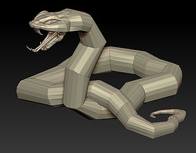 3D SNAKE LOWPOLY low-poly