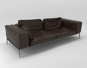interior 3D model leather sofa