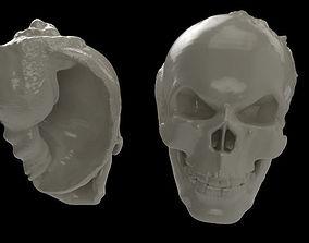 3D printable model Skull-hermit-crab-shell