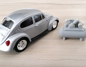 Air Compressor - Garage scale 1-43 Diorama Garage 3D 1