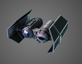 3D model Low poly Tie Bomber