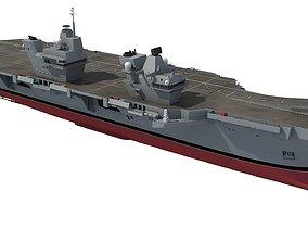 HMS Queen Elizabeth Aircraft Carrier 3D