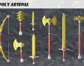 Low Poly Arsenal - Gold 3D asset animated