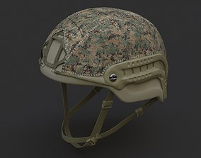 3D model Ops Core Sentry helmet foliage green with 1