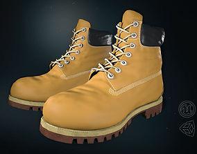 Yellow Timberland Boots 3D asset