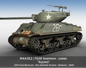 3D model M4A3E2 - Sherman Jumbo - Aquino