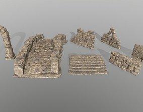 Ruin set 3D asset VR / AR ready