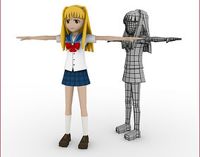 Full Animanga Rigged Anime Character 3D asset