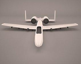 3D model A10C Extreme Aircraft