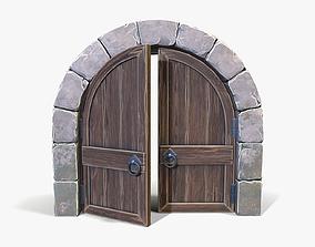 Stylized Arched Door 3D asset