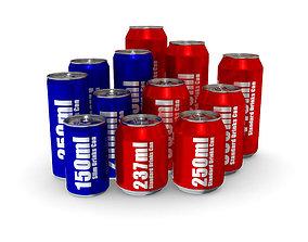 3D model Drinks Cans - Complete Set