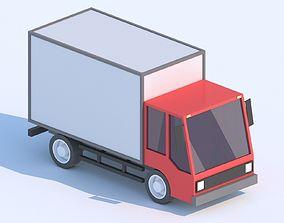 Cartoon Low Poly Car Lorry 3D model