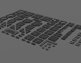Set of roads 3D model realtime