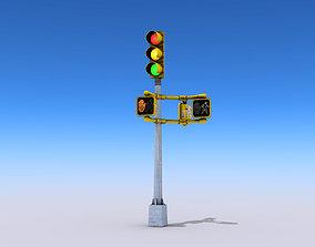 road Traffic Lights 3D model VR / AR ready