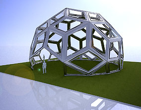 3D model Diamond Pattern geodesic dome like structure