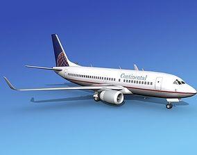 Boeing 737-700ER Continental 3D