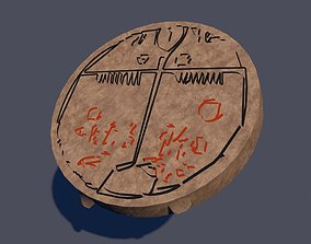 3D asset Low-Poly Shaman Drum