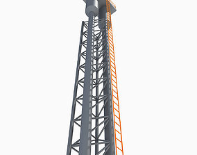 3D model Tall Industrial Tower 6