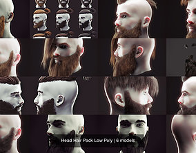 3D model Head Hair Pack Low Poly