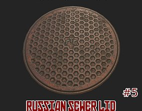 Russian sewer lid - 5 3D asset