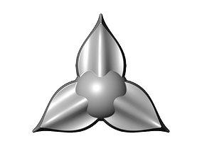 3D print model 3 Leaf star rosette molding