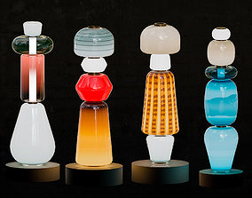 3D model Colorful blown-glass totems by Luca Nichetto