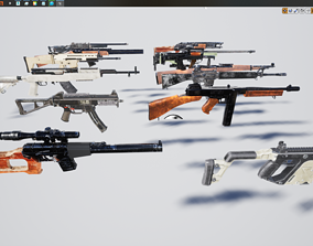 3D model Realistic Weapons Gears Collection UE4