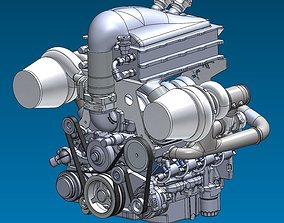 Supercar System Powertrain Assembly Stage 5 3D