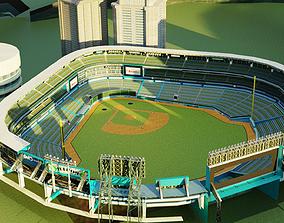 3D asset realtime baseball stadium